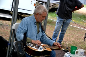 Pickin' in the Old Settler's Music Festival Campground