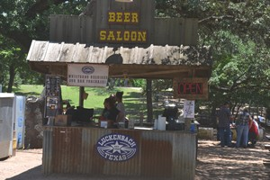 Beer stand at Luckenbach