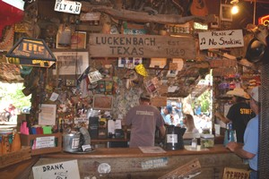 The bar at Luckenbach