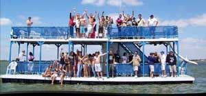 Party barge rental on Lake Lewisville