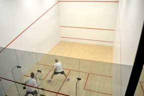 Racquet ball court at Four Seasons Resort Las Colinas