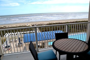 Balcony at Holiday Inn Club Vacations Galveston Seaside Resort Villas