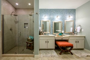 master bathroom at Holiday Inn Club Vacations Galveston Seaside Resort