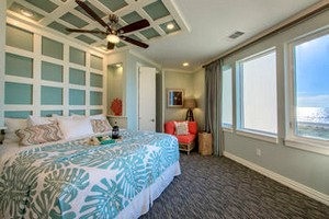 Master bedroom at Holiday Inn Club Vacations Galveston Seaside Resort