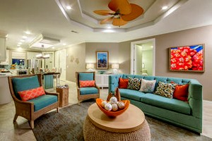 Living room at Holiday Inn Club Vacations Galveston Seaside Resort