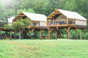 Geronimo Creek Retreat & Texas Lodging and Glamping - Safari Tents Tipis and Eco Domes