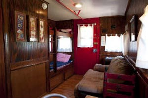 Antlers train rental lodging