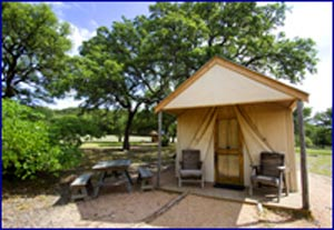 Fossil Rim Safari Tent Lodging