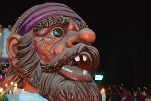 One of the Mardi Gras floats