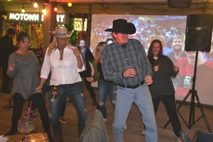 Line dancing to Motown  Larry