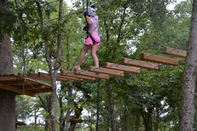 Another obstacle at Trinity Forest Adventure Park