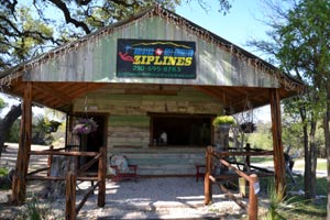 the Helotes Hill Country Zipline office