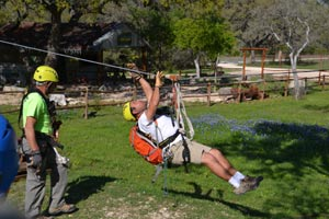 Zipline lessons at Helotes Hill Country Zipline