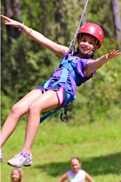 Camp Lantern Creek Zip Line