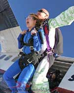 The thrill of skydiving