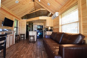 Interior of a Hill country cabin