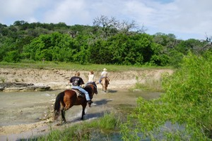trail riding at West 1077 Guest Ranch