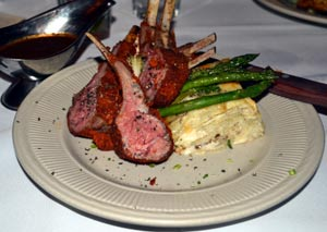 Lamb chops at Rebeccas in Cloudcroft