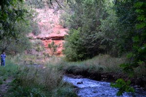 The creek in back of our campsite in Ruidoso