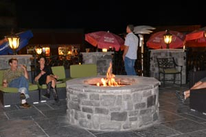 fire pit at Grace O'Malley's