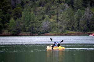 Kayaking on the lake