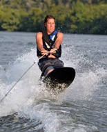 Wakeboarding on Lake Austin