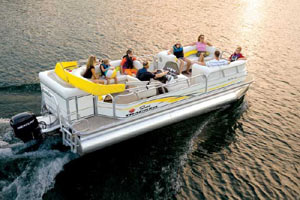 Suntracker boat rental