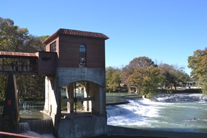 Part of the Pump House Restaurant on the Guadalupe River