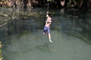 One of the rope swings at Son's Island