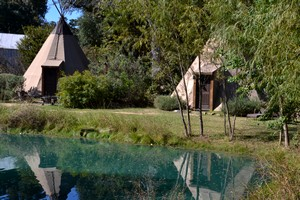 Tipis at Geronimo Creek Resort