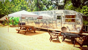 Vintage trailer for rent at Son's Island