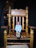 The huge chair at Big Texan Steakhouse