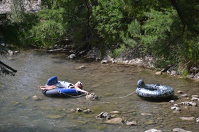 Relaxing In The Guadalupe River At Lazy Lu0026L Campground