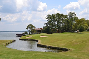 I put one in Lake Conroe on this Weiskopf golf hole