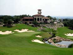 The Club House and 18th hole at La Cantera Resort