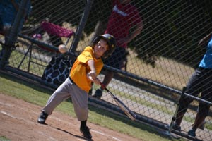 Cole hitting a home run