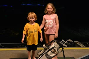 The grandkids at Topgolf
