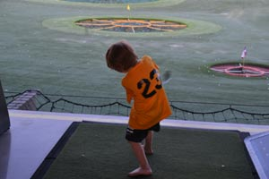 Cole at Topgolf