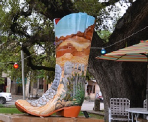 One of many boots  in Wimberley